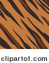 Vector Illustration of a Tiger Animal Print Background with Brown, Tan and Black Stripes in a Pattern by AtStockIllustration