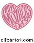 Vector Illustration of a Two Toned Love Heart with Happy Mothers Day Text Inside by AtStockIllustration