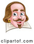 Vector Illustration of a William Shakespeare over a Page by AtStockIllustration