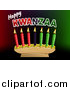Vector Illustration of Happy Kwanzaa Greeting and Candles by AtStockIllustration
