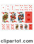 Vector Illustration of Hearts Playing Card Suit by AtStockIllustration
