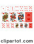 Vector Illustration of Hearts Suit Playing Cards by AtStockIllustration