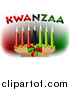 Vector Illustration of Kwanzaa Candles and Text by AtStockIllustration