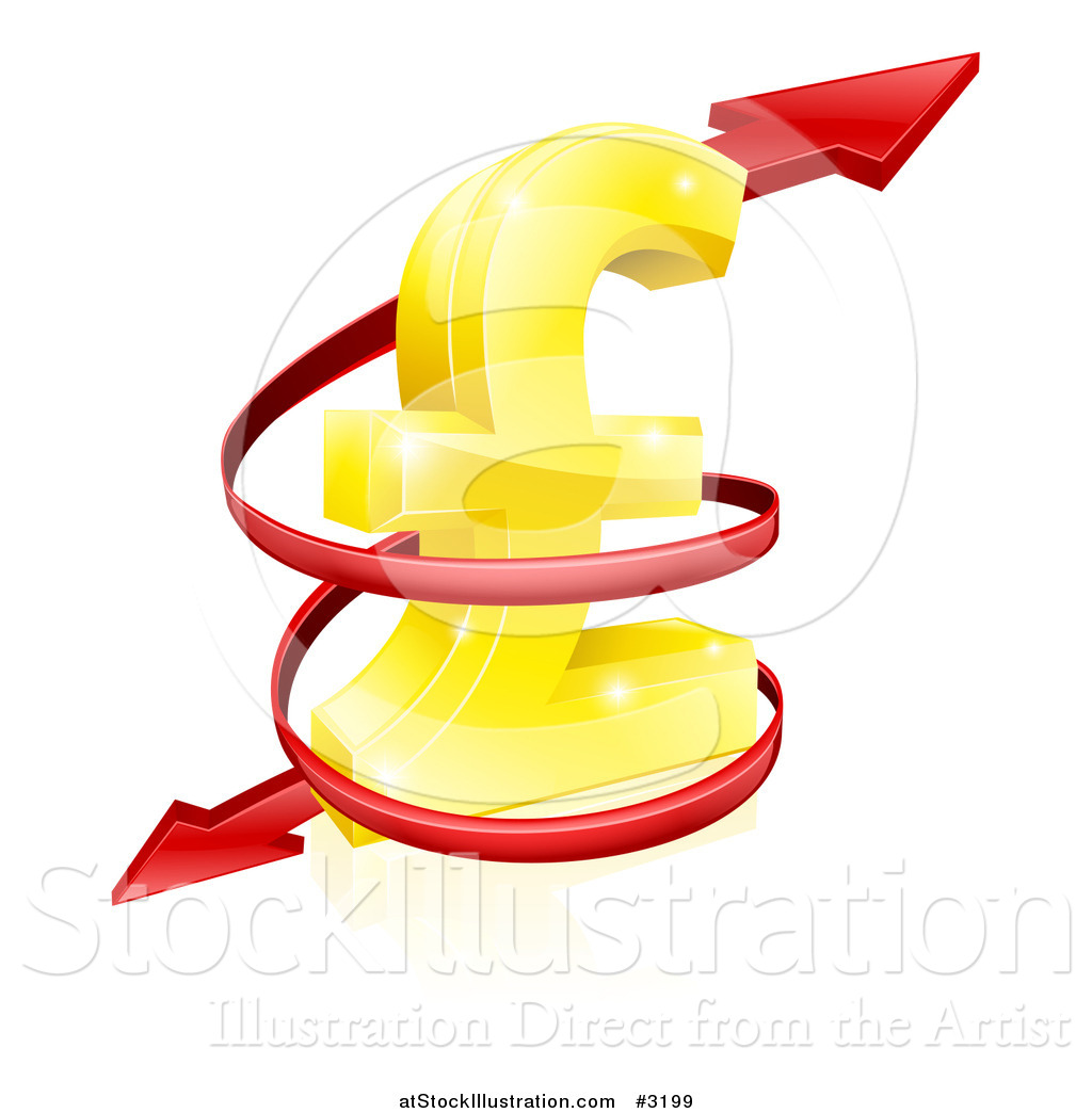 Vector illustration of a 3d red spiraling arrow around a golden lira vector illustration of a 3d red spiraling arrow around a golden lira pound currency symbol biocorpaavc Gallery
