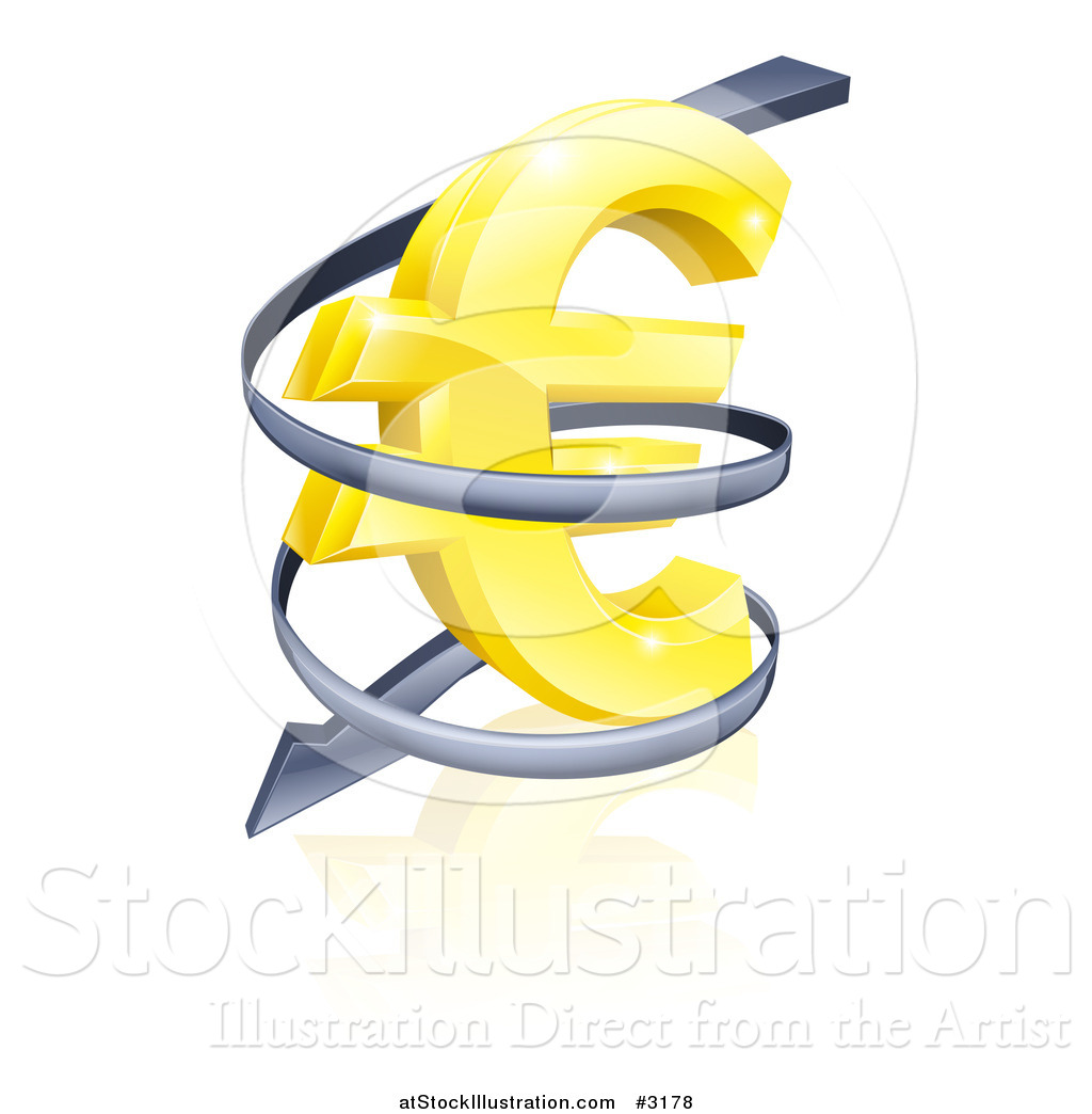 Vector illustration of a 3d rising price arrow circling a golden vector illustration of a 3d rising price arrow circling a golden euro symbol biocorpaavc