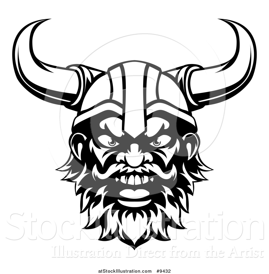 Vector Illustration Of A Black And White Cartoon Yelling