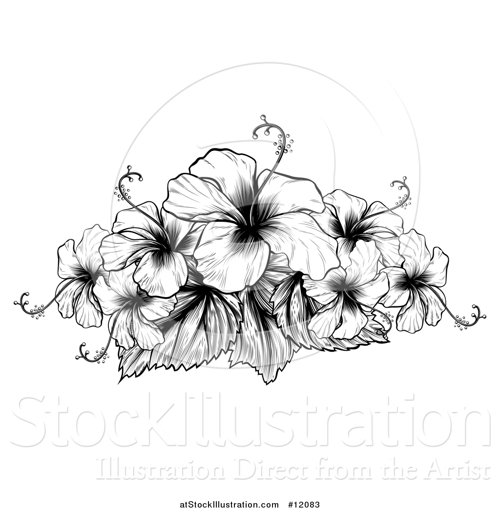 Vector Illustration Of A Black And White Engraved Or Woodcut