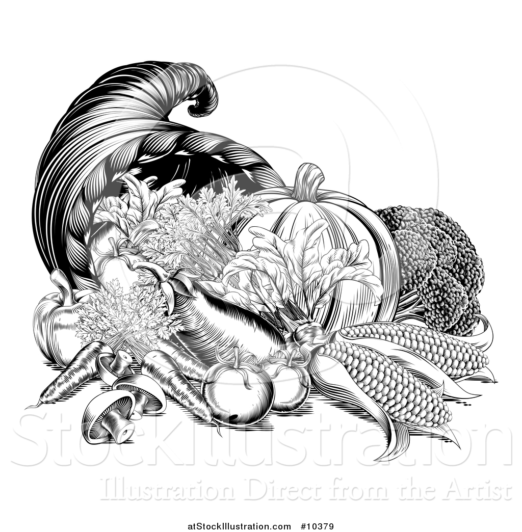 Vector Illustration of a Black and White Woodcut Vintage ...