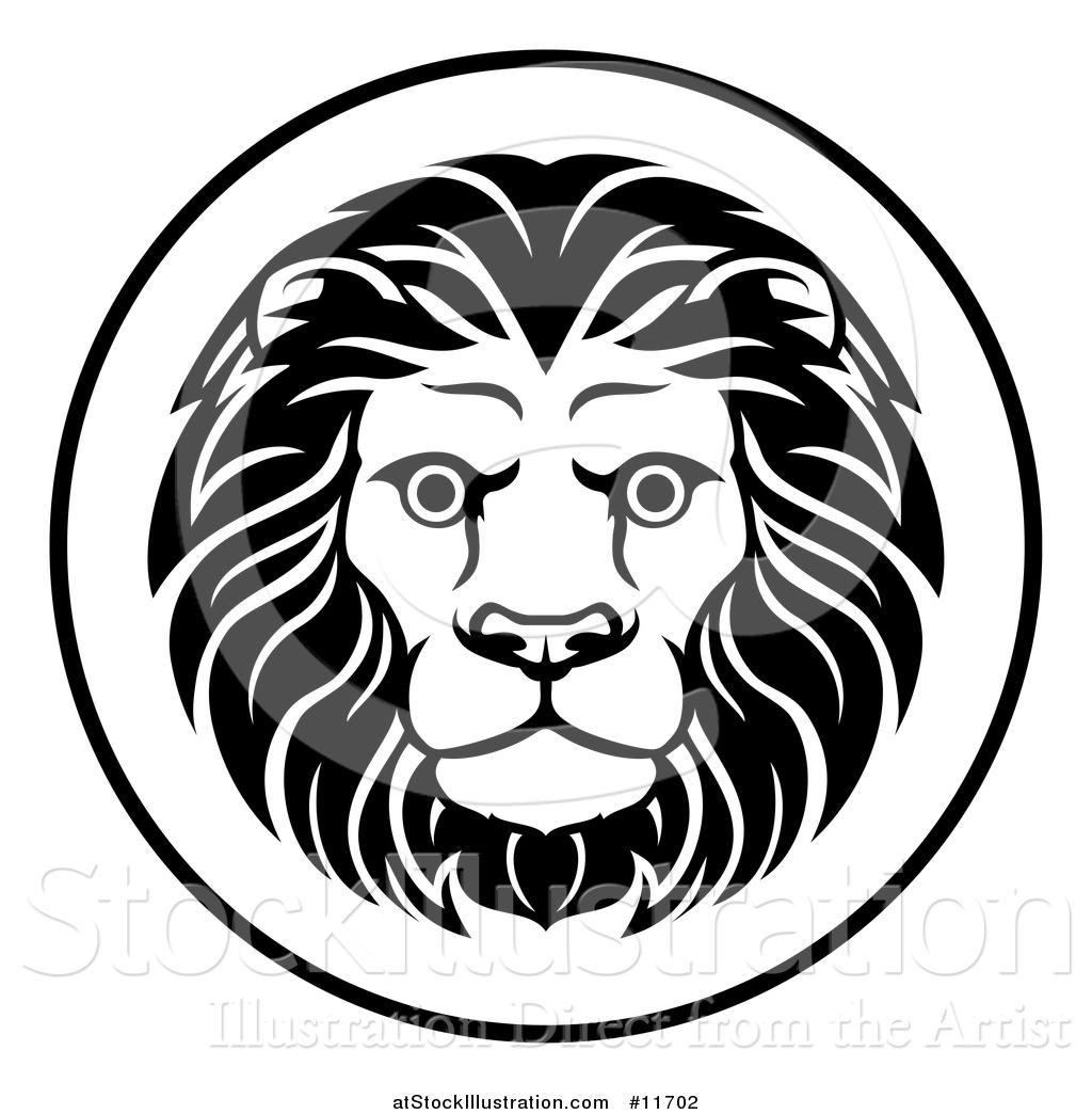 Vector Illustration Of A Black And White Zodiac Horoscope