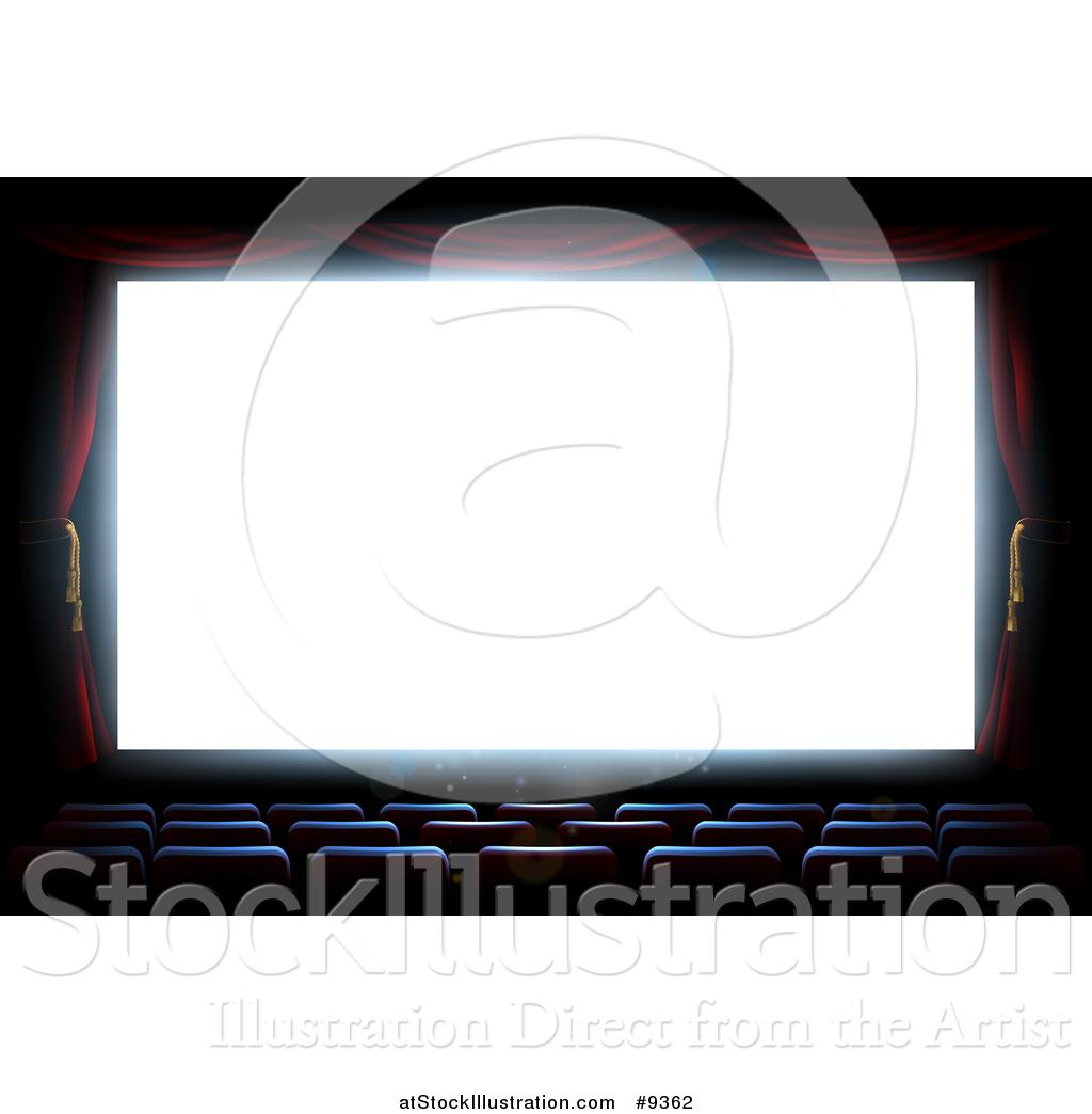 vector illustration of a bright white cinema movie theatre screen rh atstockillustration com free movie screen clipart Projector Clip Art
