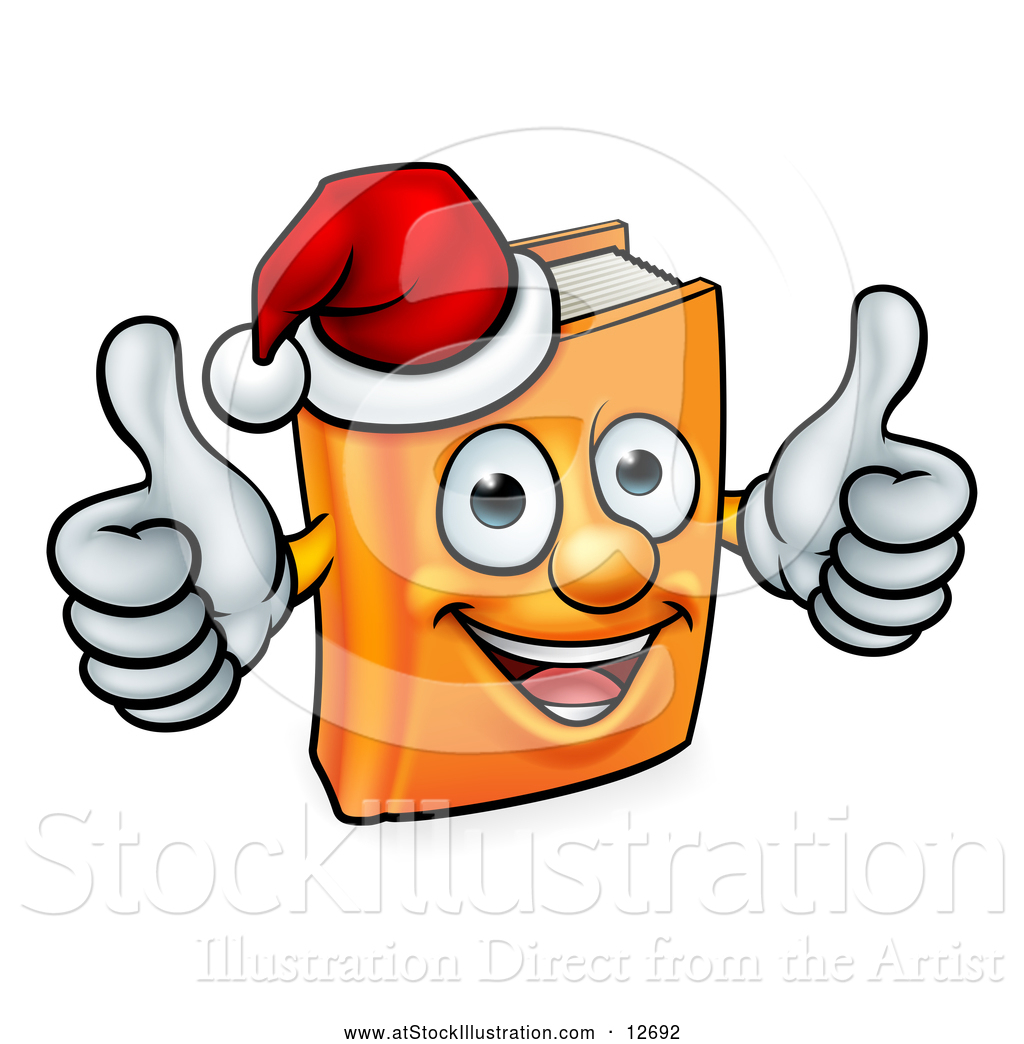 A Christmas Story Logo Vector.Vector Illustration Of A Christmas Story Book Character