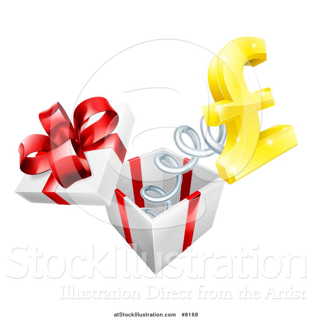 Vector Illustration Of A Gift Box With A Lira Currency Symbol