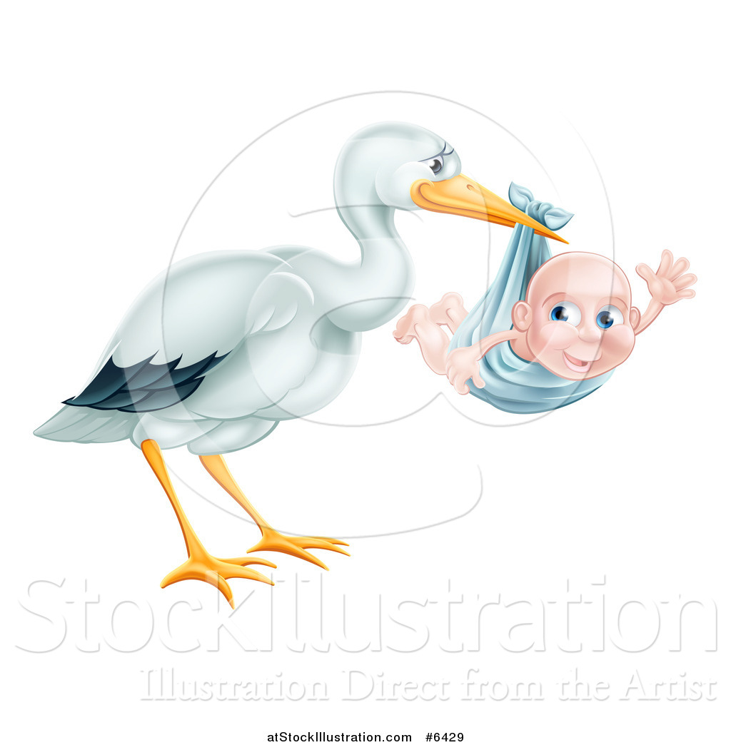 Baby Boy Stork Clipart Cliparts Galleries
