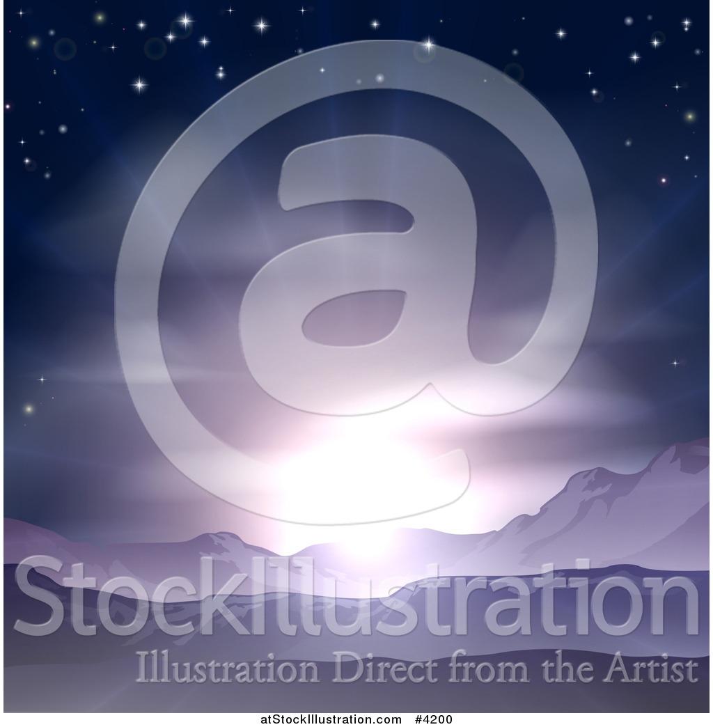 vector illustration of a stunning purple sunrise or sunset over rh atstockillustration com Mountain Sunrise Clip Art Mountain Sunrise Clip Art