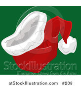 Vector Illustration of a Red and White Santa Hat by AtStockIllustration