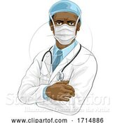 Vector Illustration of Doctor Wearing Medical PPE by AtStockIllustration