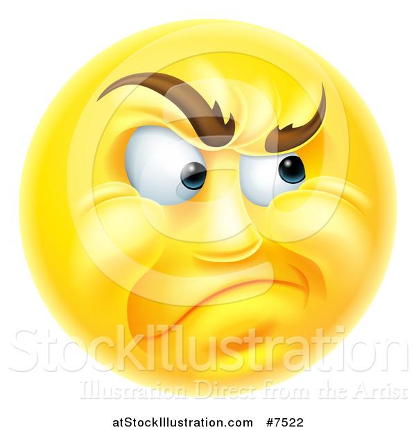 Vector Illustration of a 3d Yellow Smiley Emoji Emoticon