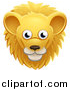 Vector Illustration of a Happy Male Lion Face Avatar by AtStockIllustration